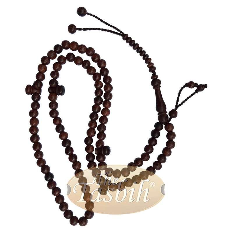 Tamarind Wood Tijani Tasbih 8mm-bead Handmade Dark Brown Wooden Prayer Beads