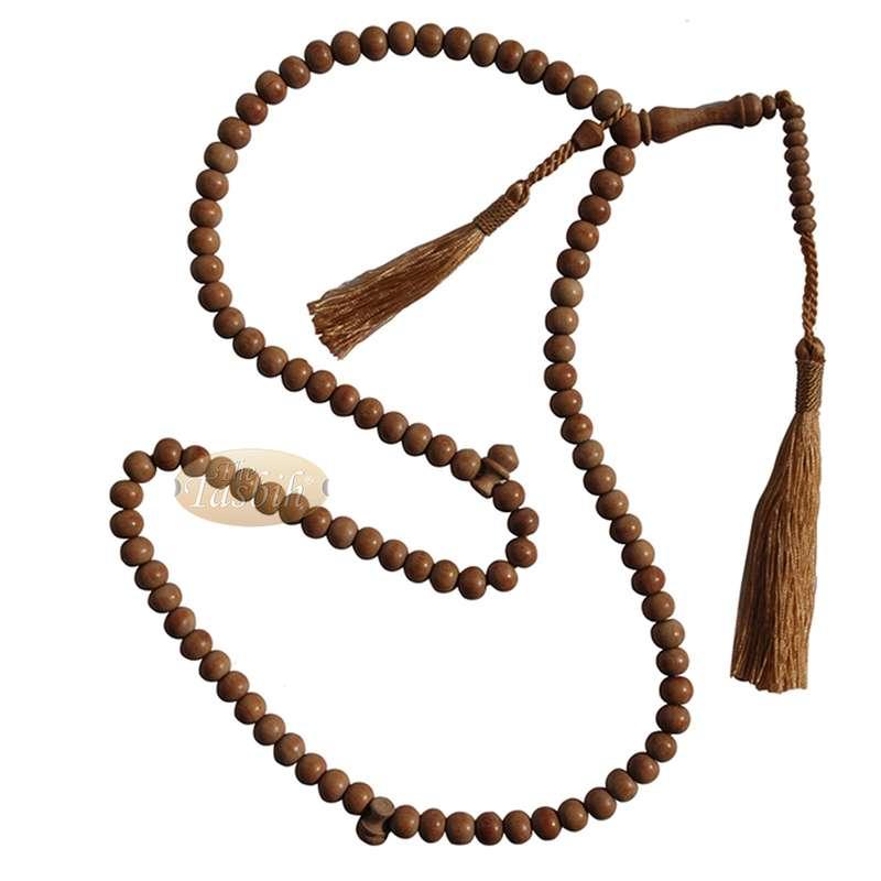 8mm Schoutenia Wood Muslim Tasbih Prayer Beads 2 Matching Tassels