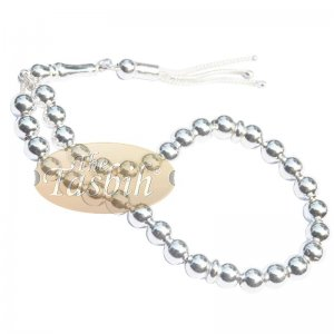 7mm Sterling Silver Prayer Beads 33 Round Beads Divide Muslim Gift