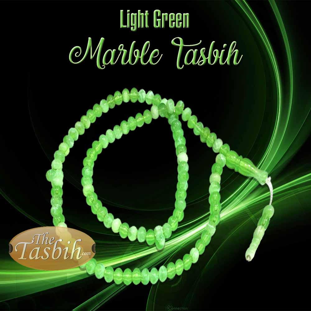 Light Green Marble Tasbih