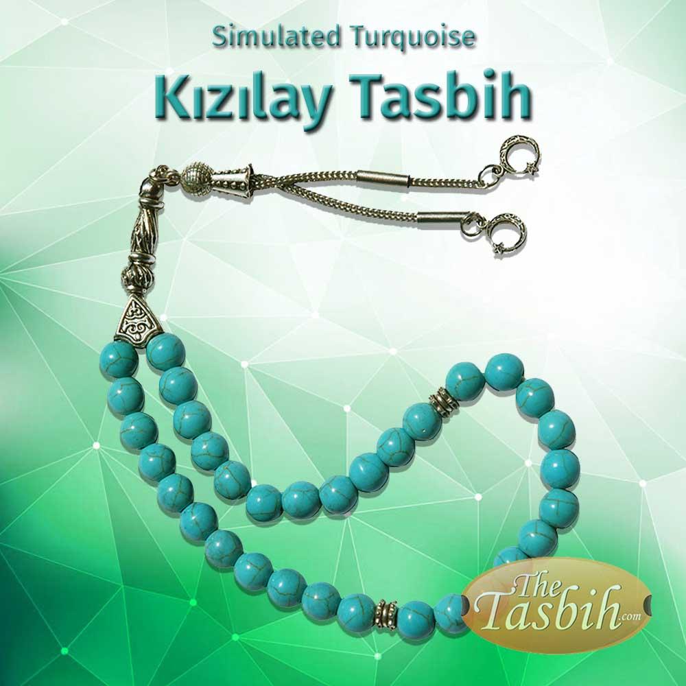 Simulated Turquoise Kizilay Tasbih